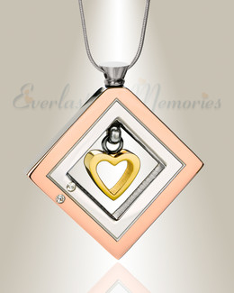 Enchanting Heart with Gold Plated Heart Urn Pendant
