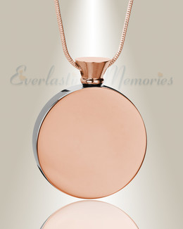 Rose Gold Circle of Life Urn Pendant