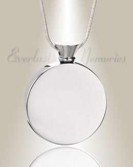 Silver Circle of Life Urn Pendant