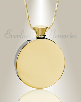 Gold Plated Circle of Life Urn Pendant