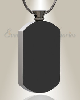 Black Pleasant Rectangle Urn Pendant
