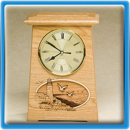 Ocean Waves Clock Urn