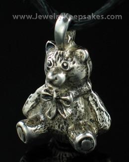 Pewter Teddy Bear Memorial Locket