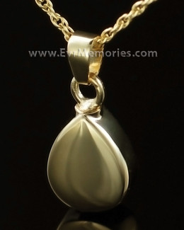 14K Gold Plated Teardrop Funeral Jewelry