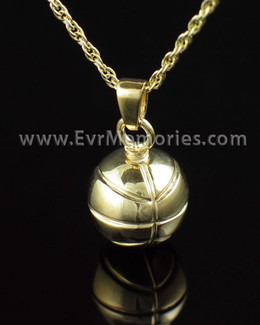 Gold Plated Basketball Urn Keepsake