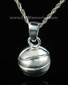 Sterling Silver Basketball Urn Necklace