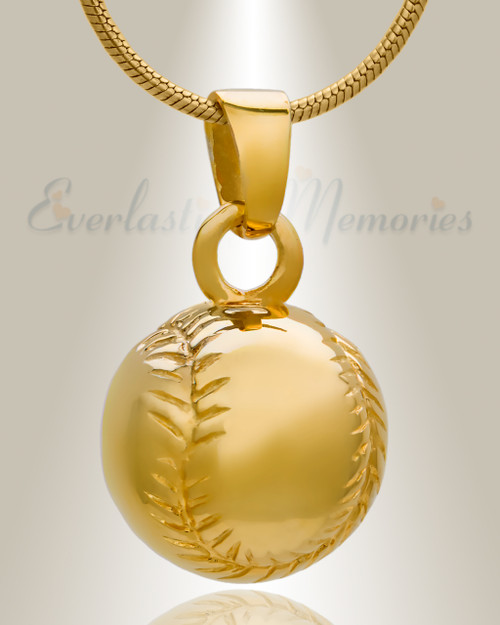 Unique 14k gold plated baseball memorial lockets by EvrMemories
