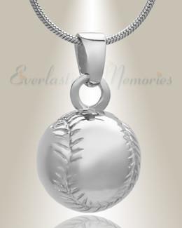Sterling Silver Baseball Memorial Locket