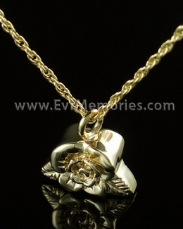 14K Gold Plated Rose Petal Funeral Jewelry