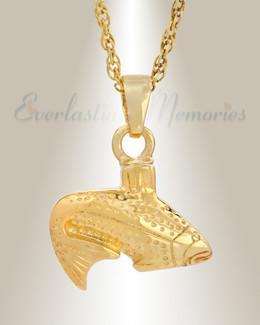 Gold Vermeil Fish Cremation Cremation Urn Keepsake