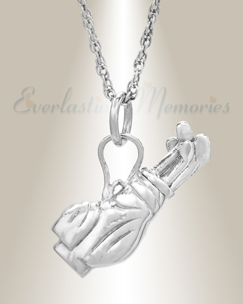 Evrmemories has golf clubs cremation urn pendant keepsakes golf clubs cremation memorial locket aloadofball Image collections