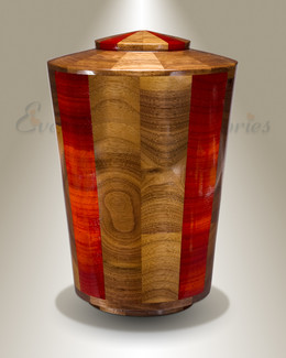 Large Trinity Urn in Black Walnut & Padauk