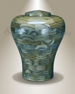 Large Lily Urn in Blue