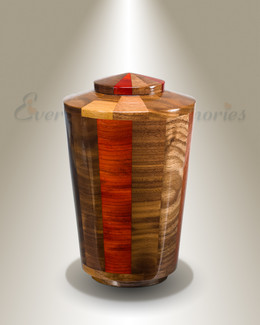 Small Trinity Urn in Black Walnut & Padauk