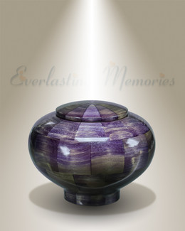 Small Peony Urn in Purple