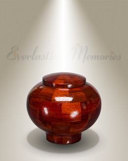 Mercy Urn in Padauk-Keepsake