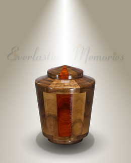 Trinity Urn in Black Walnut & Padauk-Keepsake