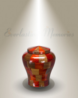 Tranquility Urn in Black Walnut & Padauk-Keepsake