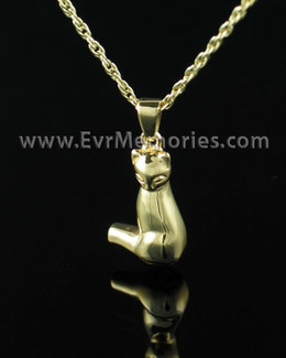 Gold Vermeil Cat Memorial Locket