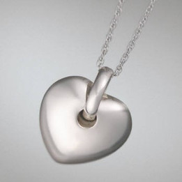 Puff Heart Cremation Cremation Keepsake-Silver