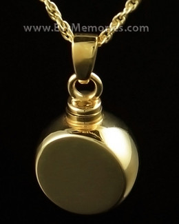 Signet Cremation Pendant in 14K Gold Plate Urn Keepsake