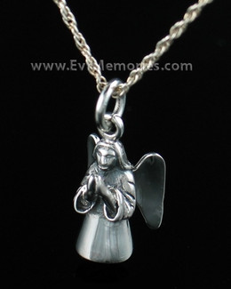Sterling Silver Praying Angel Funeral Jewelry