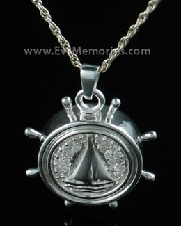 Sterling Silver Captains Wheel Memorial Locket