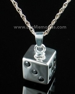 Sterling Silver Dice Cremation Urn Keepsake