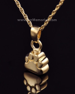 14K Gold Plated Lil Paw Funeral Jewelry