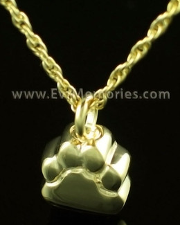 14K Gold Lil Paw Memorial Locket