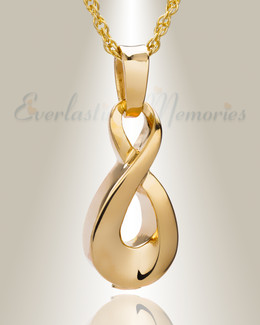 Gold Plated Always Cremation Locket