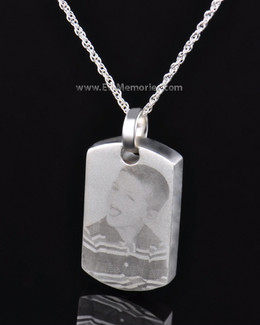 Sterling Silver Remembrance Tag Memorial Pendant