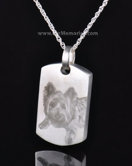Sterling Silver Memory Tag Pet Cremation Keepsake