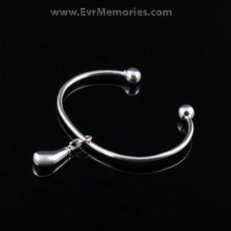 Sterling Silver Teardrop Cremation Bracelet