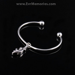 Sterling Silver Stallion Cremation Bracelet