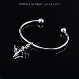 Sterling Silver Night Dragon Cremation Bracelet