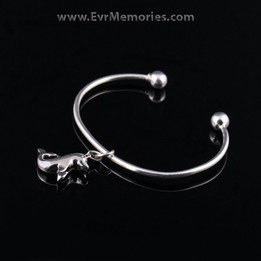 Sterling Silver Dolphin Cremation Bracelet