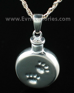 Silver Pawprints Memorial Locket