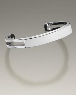 Stainless Steel Men's Elegance Cuff Cremation Bracelet