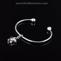 Sterling Silver Flower Cremation Bracelet