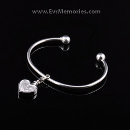 Sterling Silver Angel Kiss Cremation Bracelet