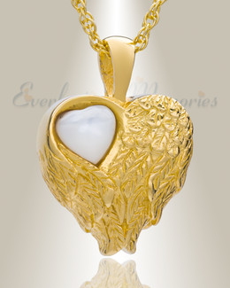 Gold Plated Heart of Love Ash Pendant