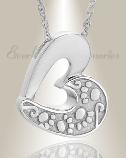 14k White Gold Tender Memory Pet Cremation Jewelry