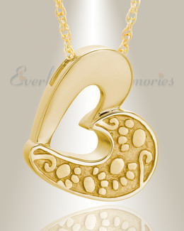 14k Gold Tender Memory Pet Cremation Jewelry