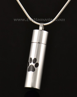14k White Gold With Me Pet Keepsake Pendant