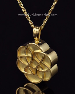 Gold Plated Celtic Flower Cremation Keepsake