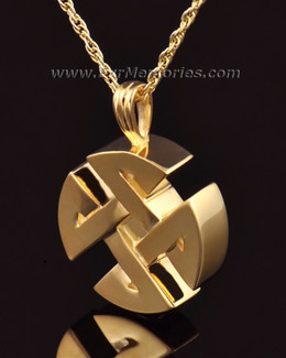 14k Gold Celtic Cherished Round Memorial Jewelry