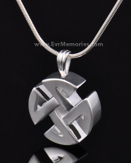 Sterling Silver Celtic Cherished Round Memorial Jewelry