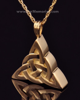 Gold Plated Celtic Cherished Triangle Keepsake Jewelry