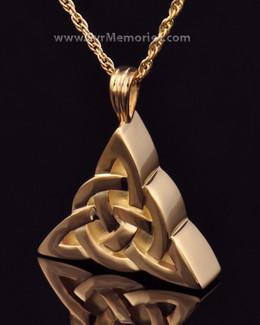 Gold Plated Celtic Cherished Triangle Keepsake Jewelry